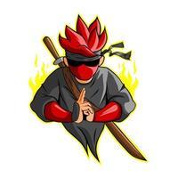 ilustração do vetor ninja ícone esport