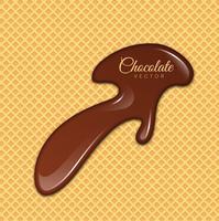 Chocolate líquido ou tinta marrom. Ilustração vetorial