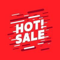 vetor de banner de promoção de venda quente.