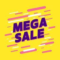vetor de banner de promoção de mega venda.