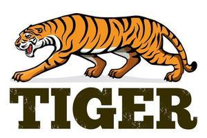 banner com um tigre. dia da proteção dos tigres. ano novo 2022 vetor