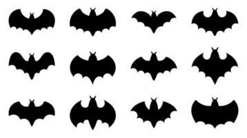conjunto de ícones de morcego - ilustração vetorial. vetor