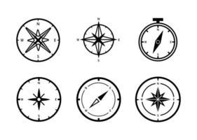 conjunto de ícones de bússola - ilustração vetorial. vetor