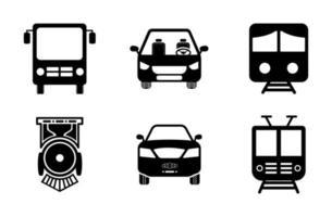 conjunto de ícones de transporte - ilustração vetorial. vetor