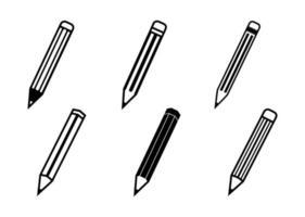 conjunto de ícones de lápis - ilustração vetorial. vetor