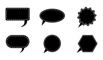 conjunto de ícones de bolha do discurso - ilustração vetorial. vetor