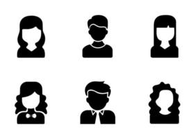 conjunto de ícones de avatar - ilustração vetorial. vetor