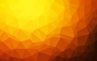 textura poligonal abstrata de vetor laranja escuro.