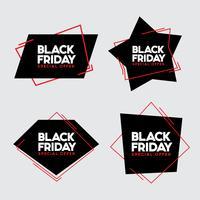 Ilustração em vetor venda sexta-feira negra