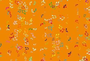 textura leve colorida do vetor com notas musicais.