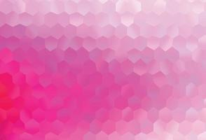 textura vector rosa claro com hexágonos coloridos.
