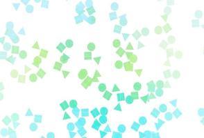 pano de fundo de vetor verde e amarelo claro com linhas, círculos, losango.