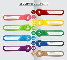 linha do tempo, modelo de caixa de texto moderno, banner de infográficos vetor