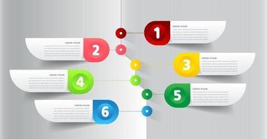 modelo de caixa de texto de linha do tempo moderna, banner de infográficos vetor