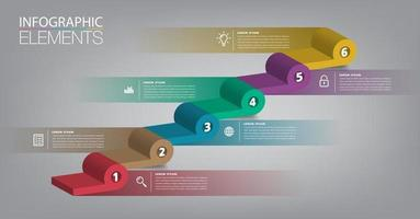 intensificar o conceito de sucesso empresarial. mexe vetor infográfico