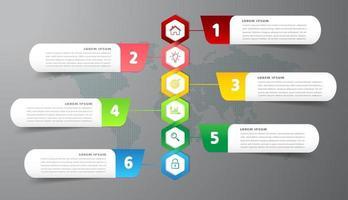 modelo de caixa de texto moderno, banner de infográficos vetor