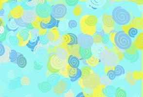 padrão de vetor verde e amarelo claro com formas de bolha.