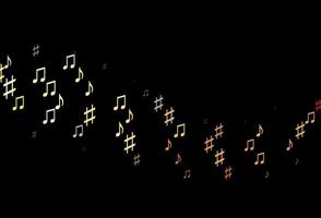 modelo de vetor laranja escuro com símbolos musicais.