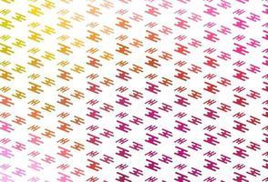 padrão de vetor rosa claro, amarelo com linhas estreitas.