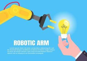 conceito de braço de robô vetor