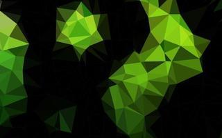 capa de poli baixa de vetor verde claro.