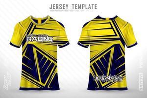 Modelo de camisa e camiseta esportiva maquete de vetor de design de camisa esportiva