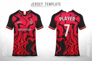 Modelo de design de vetor de maquete de camiseta e camisa de futebol