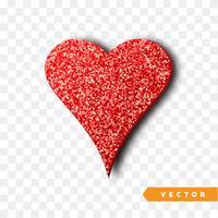 Coração vermelho brilha