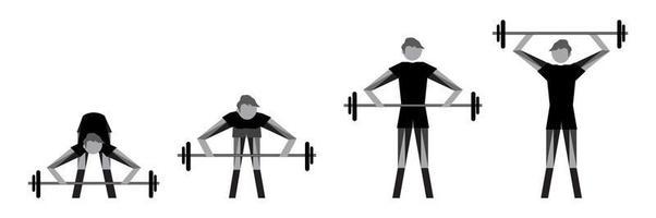 conjunto de ícones de musculação e levantamento de peso. ilustração vetorial vetor