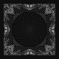 Ornamento de bandana paisley com padrão de parafuso vetor