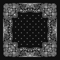 Ornamento de bandana paisley com padrão de caveira mexicana vetor