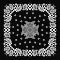 padrão de ornamento estampado bandana clássico vetor