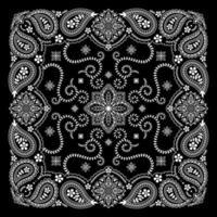 bandana paisley ornamento padrão clássico vintage vector design