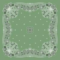 enfeite de bandana paisley com folha de cannabis vetor
