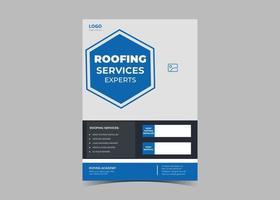 modelo de design de panfleto de serviço de cobertura. vetor