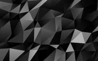 prata escura, vetor cinza brilhante padrão triangular.