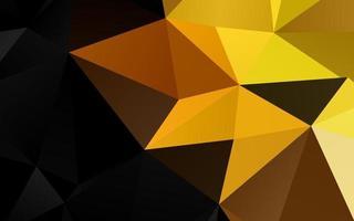 modelo de triângulo embaçado de vetor amarelo e laranja claro.