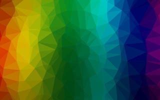 fundo escuro multicolorido, mosaico abstrato de vetor de arco-íris.