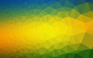 modelo de triângulo embaçado vetor de azul escuro e amarelo.