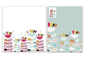 Pacote estilizado de vetores de papel de parede floral