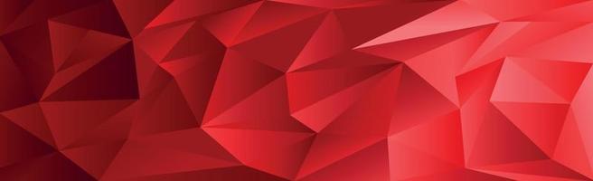 triângulos gradientes vermelhos abstratos de tamanhos diferentes - vetor
