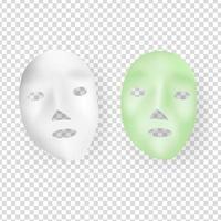 máscara de cuidados da pele vetor