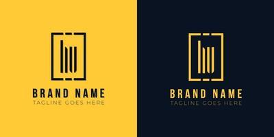 logotipo de hu letra inicial abstrato minimalista. vetor