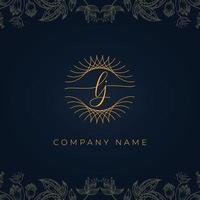 logotipo elegante luxo letra lj. vetor