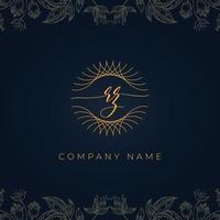 logotipo elegante luxo carta rz. vetor