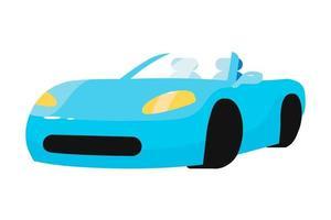 objeto de vetor de carro azul de luxo semi-plano