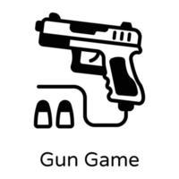 jogo de arma e atirador vetor