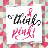 Fundo de vetor de conscientização de câncer de mama