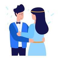 recém-casado e cônjuge vetor