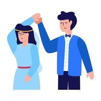 casal e esposo vetor